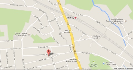 Map of Norbury Baptist Church location